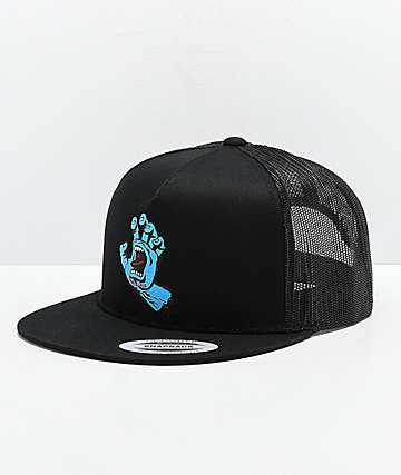 Santa Cruz Screaming Hand Black Trucker Hat