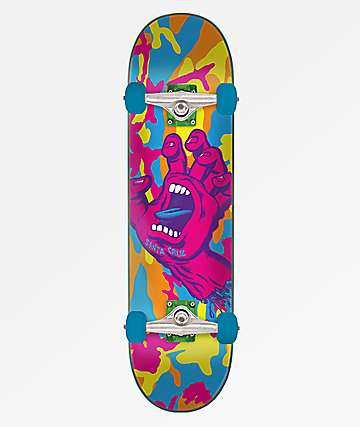 "Santa Cruz Screaming Hand Camo 7.75"" Skateboard Complete"