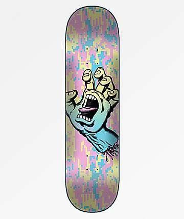 "Santa Cruz Screaming Hand Camo Wide Tip 8.0"" Skateboard Deck"