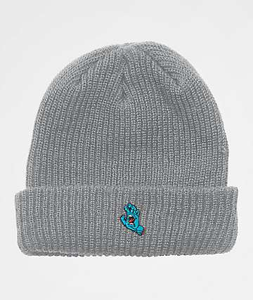 Santa Cruz Screaming Hand Grey Beanie