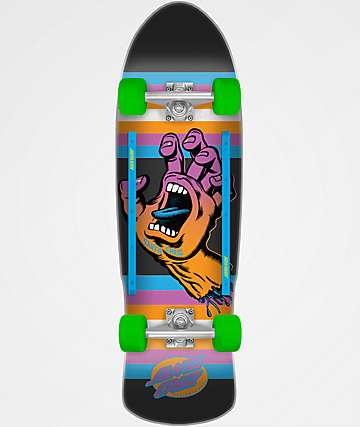 "Santa Cruz Screaming Hand Neon 9.42"" Cruiser Complete Skateboard"