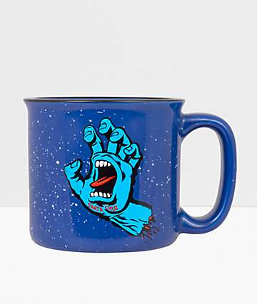 Santa Cruz Screaming Hand Speckled Blue Mug