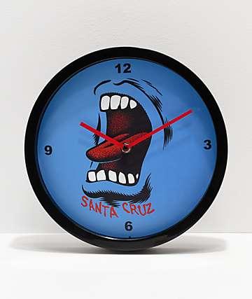 Santa Cruz Screaming reloj de pared