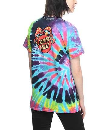 Santa Cruz Shroom Dot camiseta con efecto tie dye