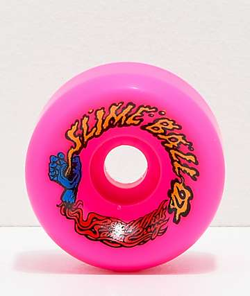 Santa Cruz Slime Balls 60mm 97a Vomits Pink Cruiser Wheels