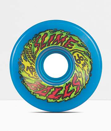 Santa Cruz Slime Balls 66mm Blue Cruiser Wheels