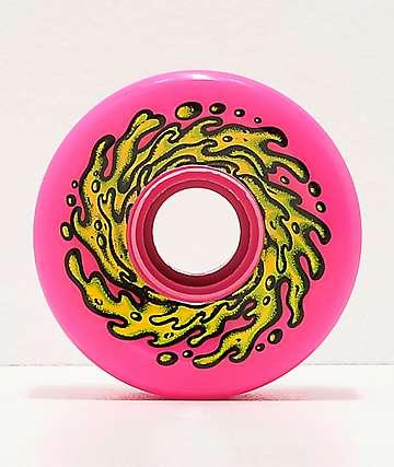Santa Cruz Slime Balls 66mm Neon Pink Cruiser Wheels