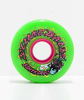 Santa Cruz Slime Balls Maggots 60mm Green Cruiser Wheels
