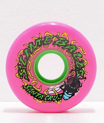 Santa Cruz Slime Balls Maggots 60mm Pink Cruiser Wheels