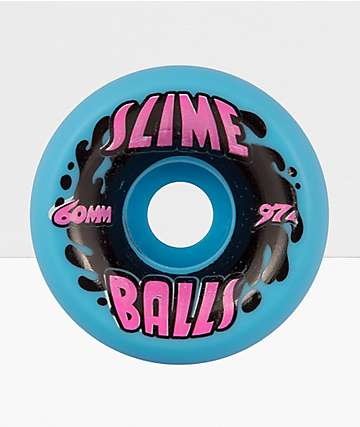 Santa Cruz Slime Balls Neon Blue & Pink 60mm Skateboard Wheels