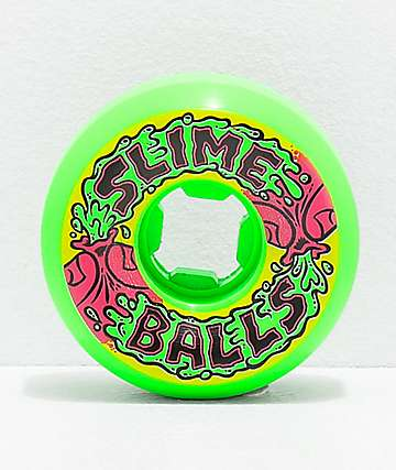 Santa Cruz Slime Balls Squirtballs 56mm 97a Vomit Green Skateboard Wheels