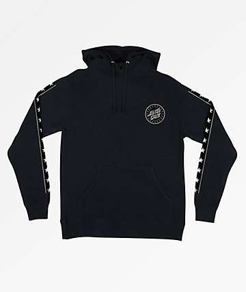 Santa Cruz Spangle Black Hoodie