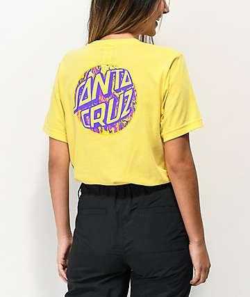 Santa Cruz Spill Dot Yellow T-Shirt