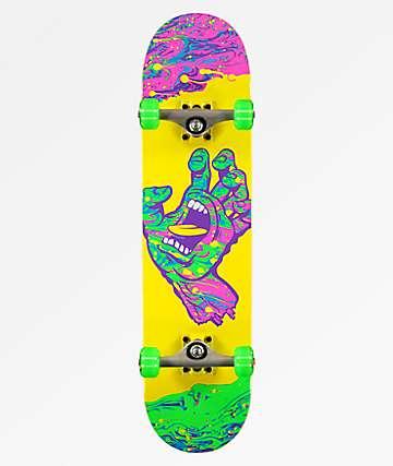 "Santa Cruz Spill Hand 7.75"" Skateboard Complete"