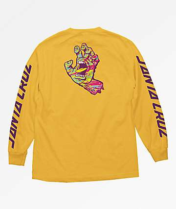 Santa Cruz Spill Hand Gold Long Sleeve T-Shirt