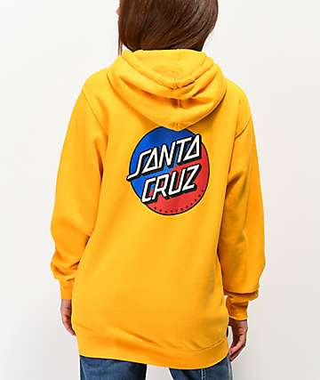 Santa Cruz Split Dot Gold Hoodie