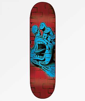 "Santa Cruz Spray Hand Hard Rock Maple 8.37"" Skateboard Deck"