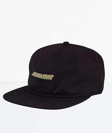 Santa Cruz Strip Black Snapback Hat