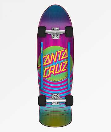 "Santa Cruz Style Dot 9.42"" Cruiser Complete Skateboard"