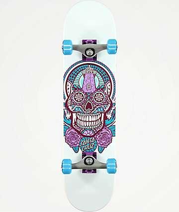 "Santa Cruz Sugar Skull 7.5"" Skateboard Complete"
