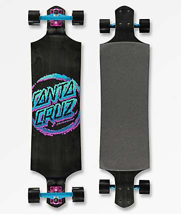 "Santa Cruz Throwdown 40"" Drop Down Longboard Complete"