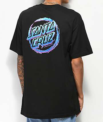 Santa Cruz Throwdown Dot Black T-Shirt