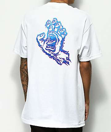 Santa Cruz Throwdown Hand White T-Shirt