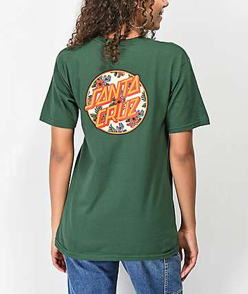 Santa Cruz Vacation Dot Forest Green T-Shirt