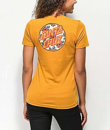 Santa Cruz Vacation Dot Gold T-Shirt