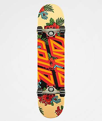 "Santa Cruz Vacation Dot Mini 6.75"" Skateboard Complete"