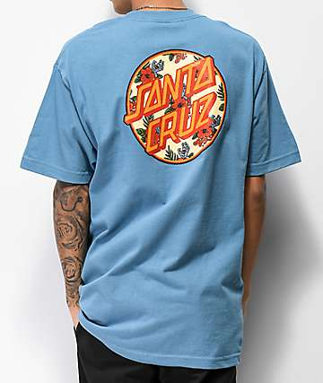 Santa Cruz Vacation Dot Slate Blue T-Shirt