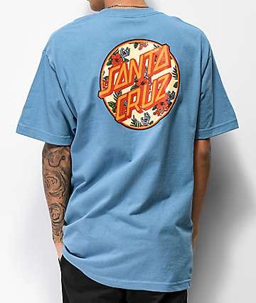Santa Cruz Vacation Dot Slate Blue T-Shirt
