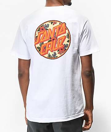 Santa Cruz Vacation Dot White T-Shirt