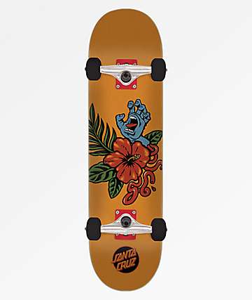"Santa Cruz Vacation Hand 7.25"" Skateboard Complete"