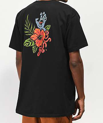 Santa Cruz Vacation Hand Black T-Shirt