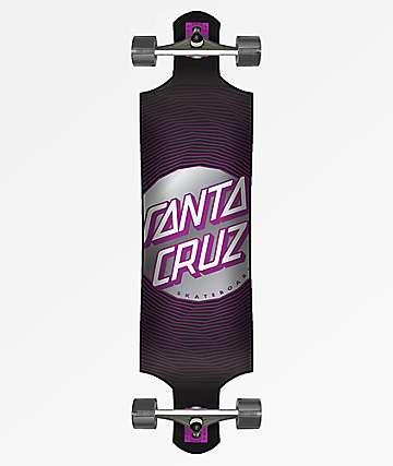 "Santa Cruz Vertigo Wavy Dot 40"" Drop Down Longboard Complete"