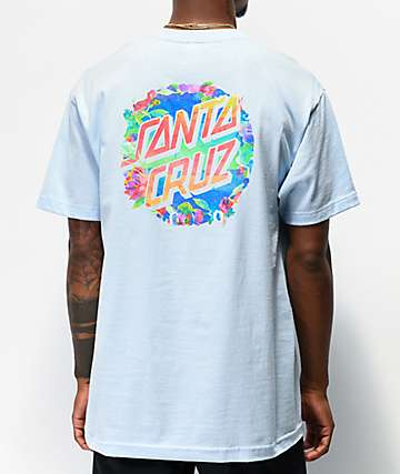 Santa Cruz Watered Dot Powder Blue T-Shirt