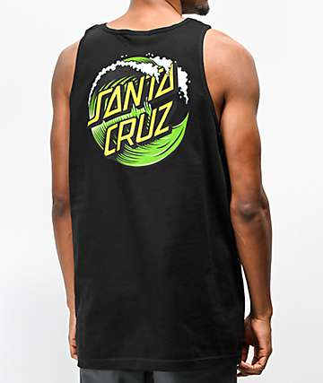 Santa Cruz Wave Dot 2 Black Tank Top
