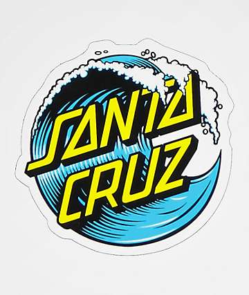 Santa cruz wave dot 3 sticker