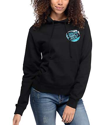 Santa Cruz Wave Dot Black Pullover Hoodie