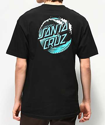 Santa Cruz Wave Dot Black T-Shirt