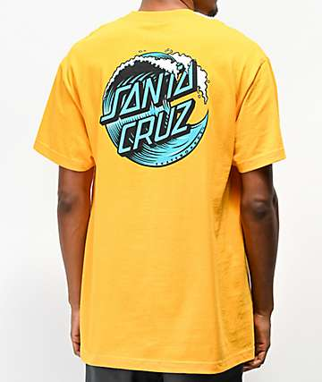 Santa Cruz Wave Dot Gold T-Shirt