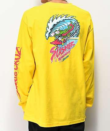 Santa Cruz Wave Slasher Yellow Long Sleeve T-Shirt