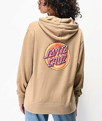 Santa Cruz Wiggle Dot Khaki Hoodie