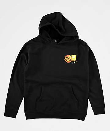 Santa Cruz x SpongeBob SquarePants Boys Group Black Hoodie