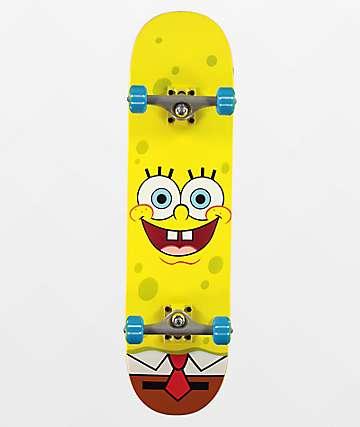 """Santa Cruz x SpongeBob SquarePants Face 8.0"""" Skateboard Complete"""