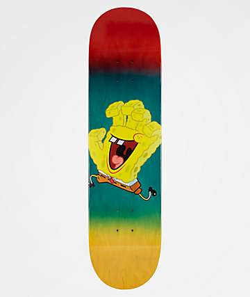 "Santa Cruz x SpongeBob SquarePants Spongehand 8.12"" Skateboard Deck"