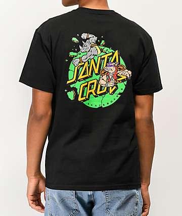 Santa Cruz x TMNT Bebop & Rocksteady Black T-Shirt