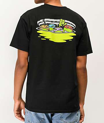 Santa Cruz x TMNT Ninja Turtles Black T-Shirt