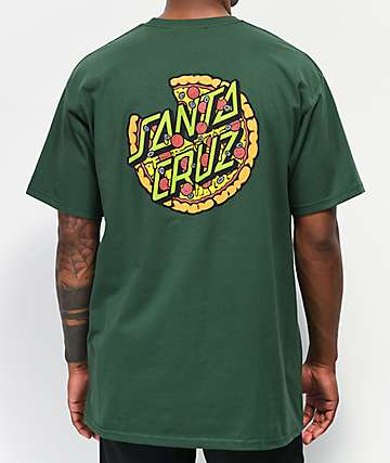 Santa Cruz x TMNT Pizza Dot Forest Green T-Shirt
